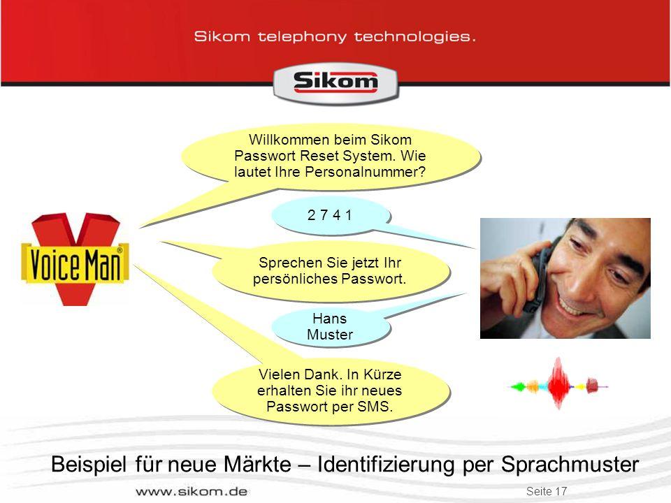 Beispiel für neue Märkte – Identifizierung per Sprachmuster