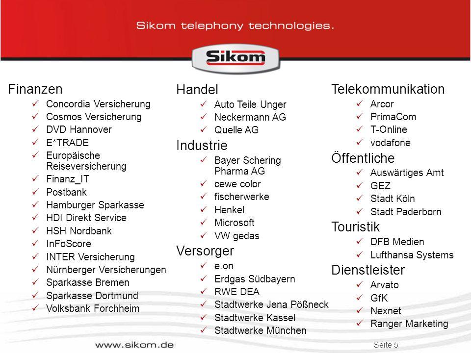 Finanzen Handel Industrie Versorger Telekommunikation Öffentliche