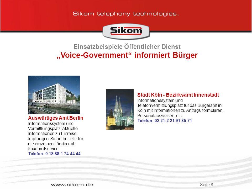 """Einsatzbeispiele Öffentlicher Dienst """"Voice-Government informiert Bürger"""