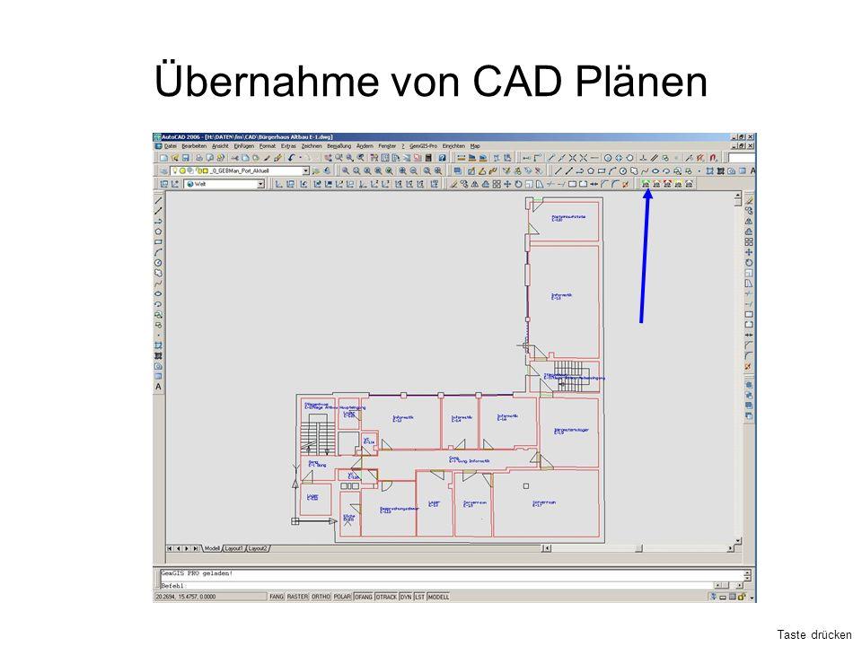 Übernahme von CAD Plänen