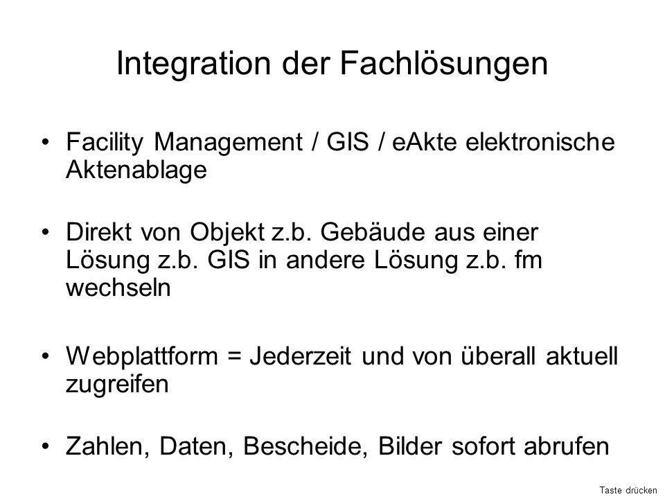 Integration der Fachlösungen