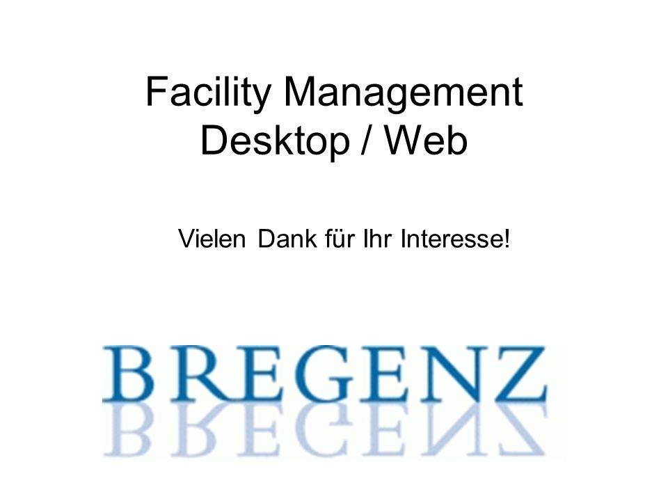 Facility Management Desktop / Web