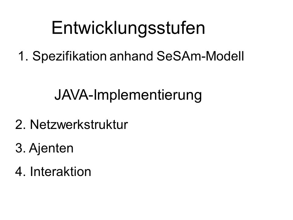 JAVA-Implementierung