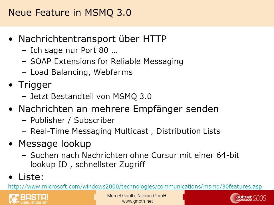 Nachrichtentransport über HTTP