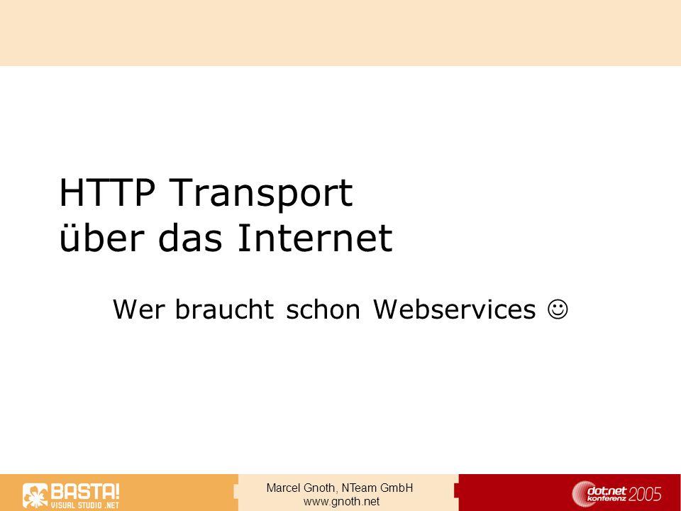 HTTP Transport über das Internet