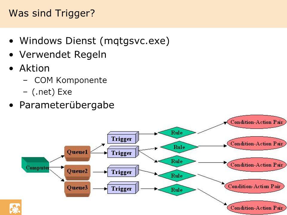 Windows Dienst (mqtgsvc.exe) Verwendet Regeln Aktion