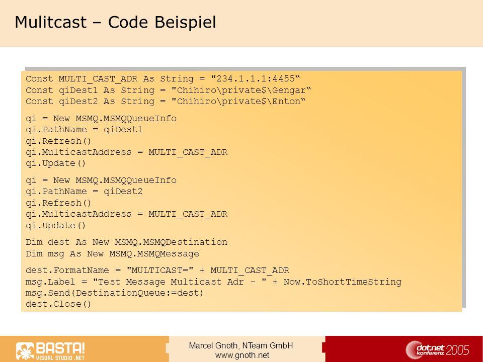 Mulitcast – Code Beispiel
