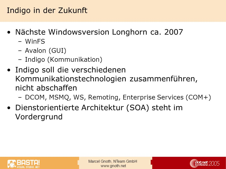 Nächste Windowsversion Longhorn ca. 2007