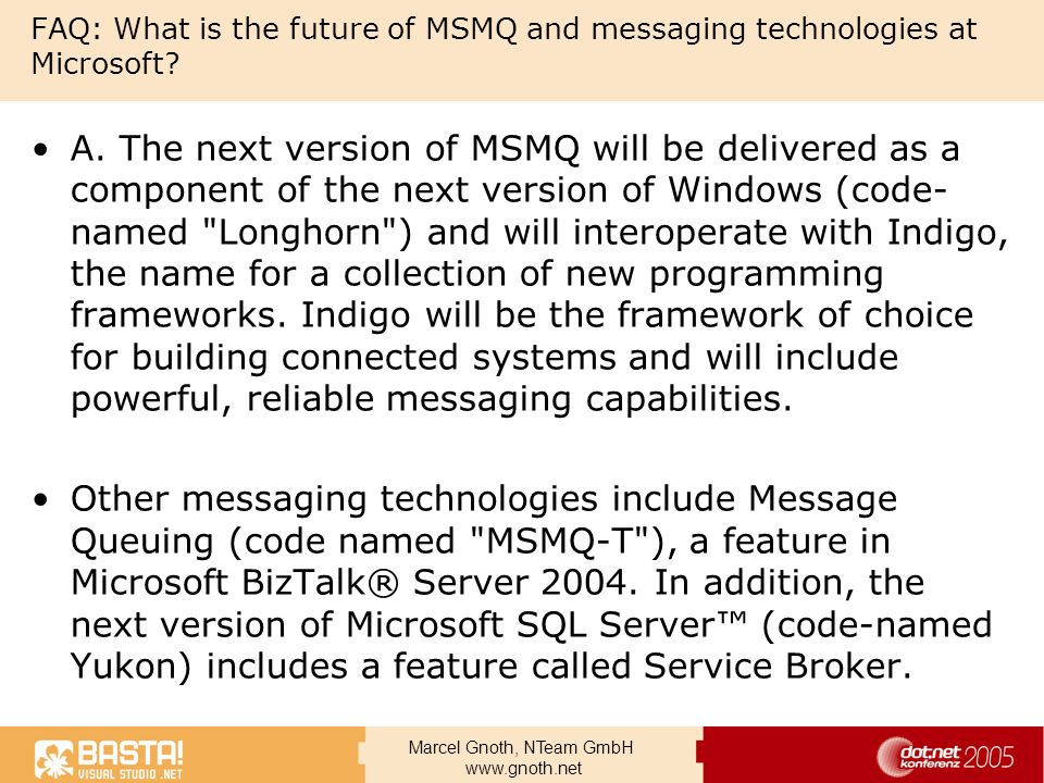 FAQ: What is the future of MSMQ and messaging technologies at Microsoft
