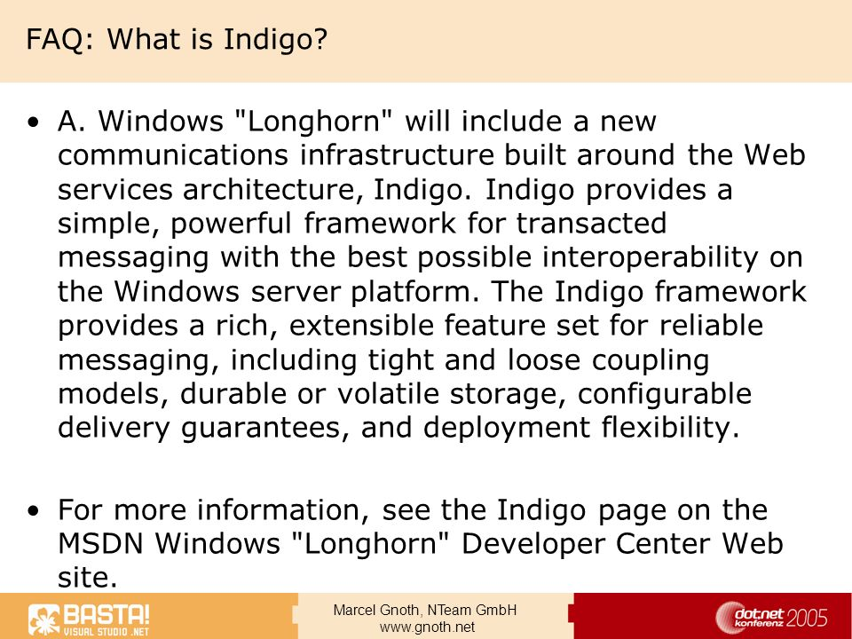 FAQ: What is Indigo