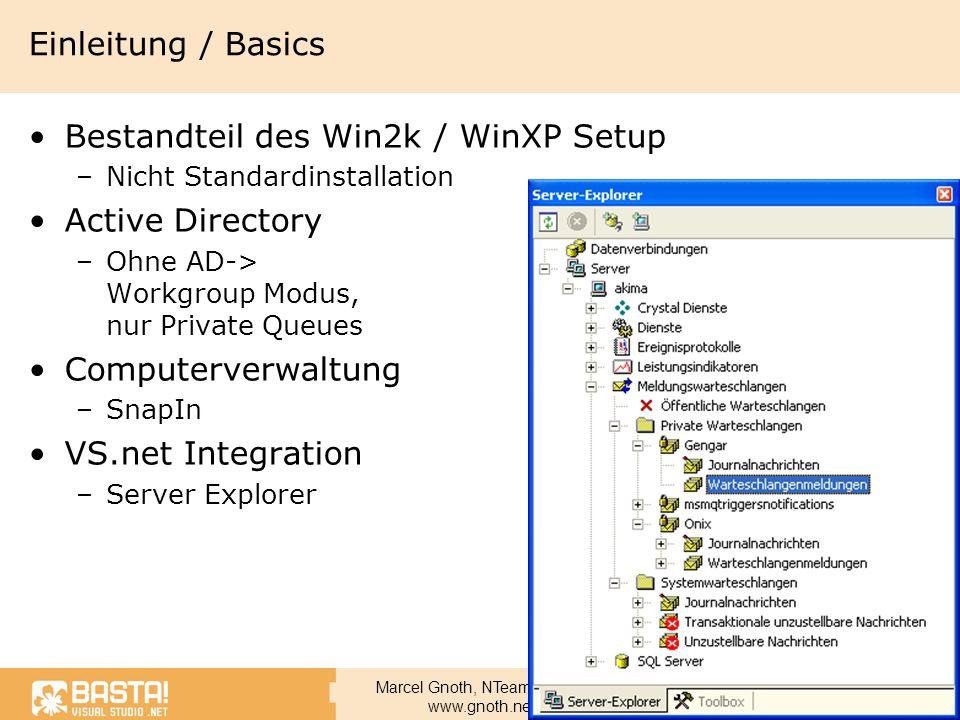 Bestandteil des Win2k / WinXP Setup Active Directory