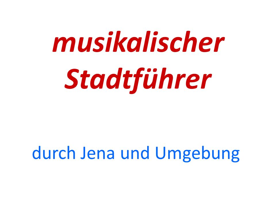 musikalischer Stadtführer
