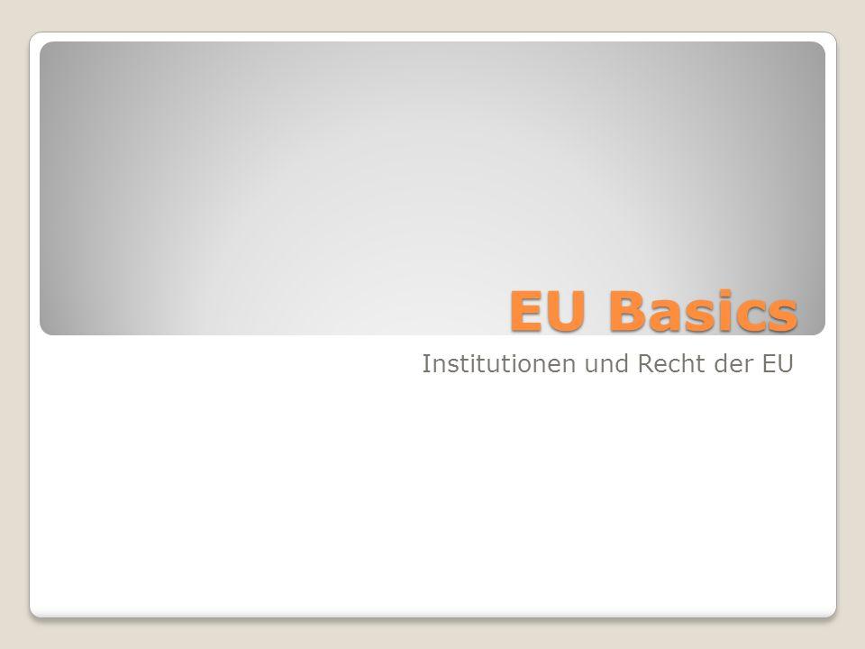 Institutionen und Recht der EU