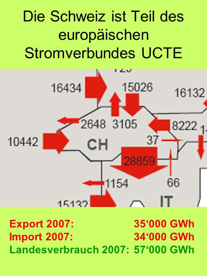Die Schweiz ist Teil des europäischen Stromverbundes UCTE