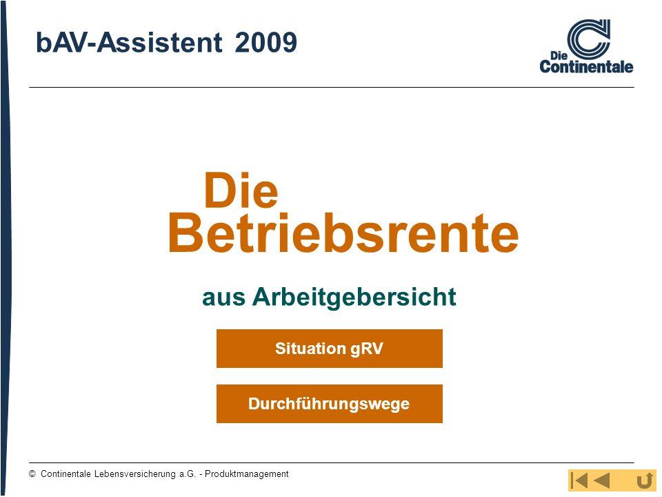 Betriebsrente Die bAV-Assistent 2009 aus Arbeitgebersicht