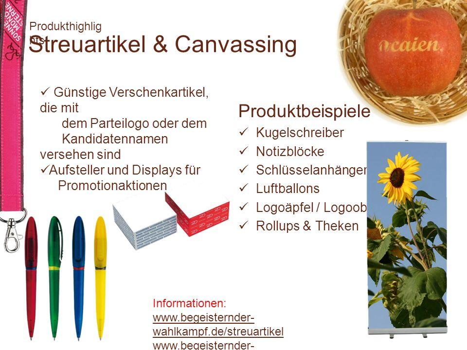 Streuartikel & Canvassing