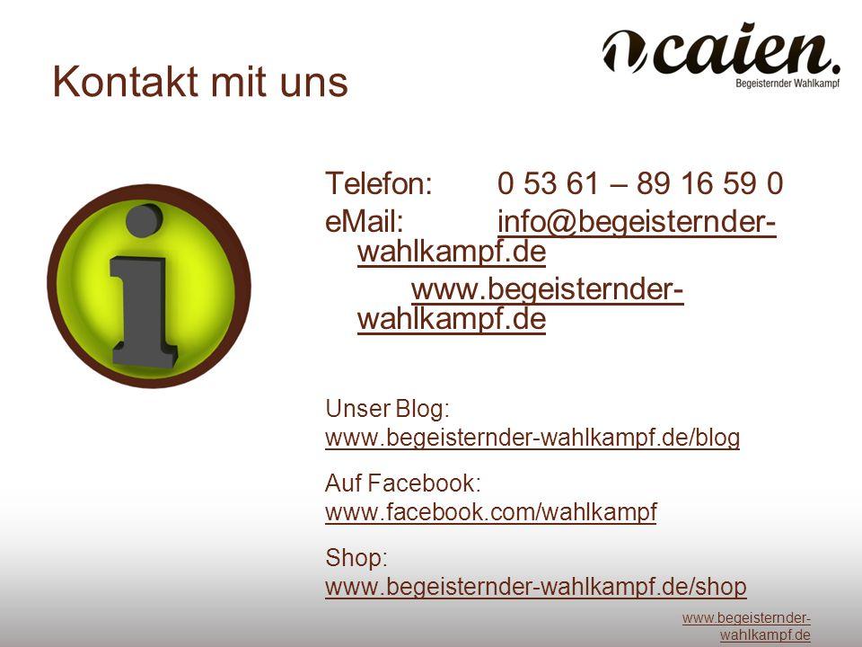 Kontakt mit uns Telefon: 0 53 61 – 89 16 59 0