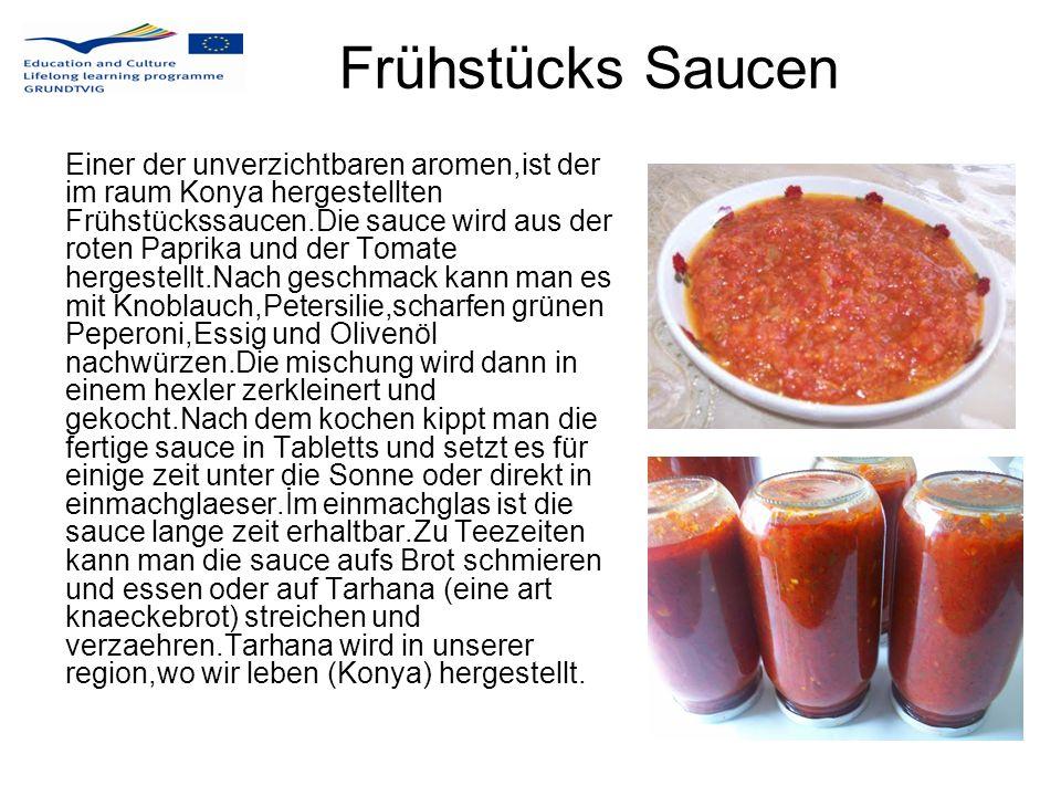Frühstücks Saucen