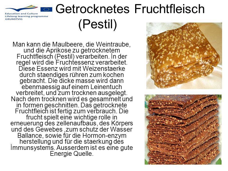 Getrocknetes Fruchtfleisch (Pestil)