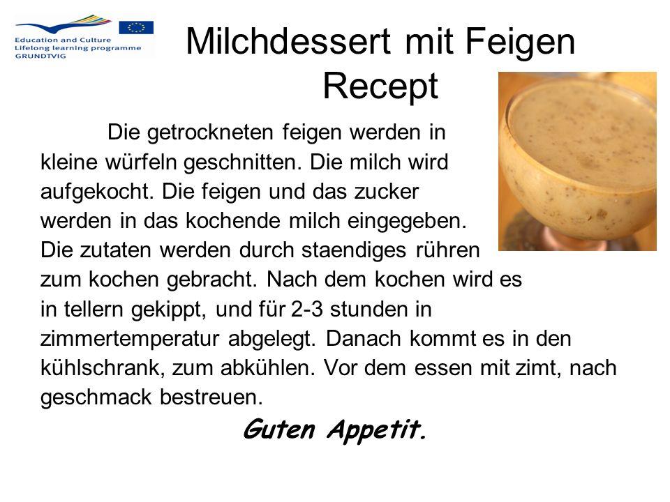 Milchdessert mit Feigen Recept