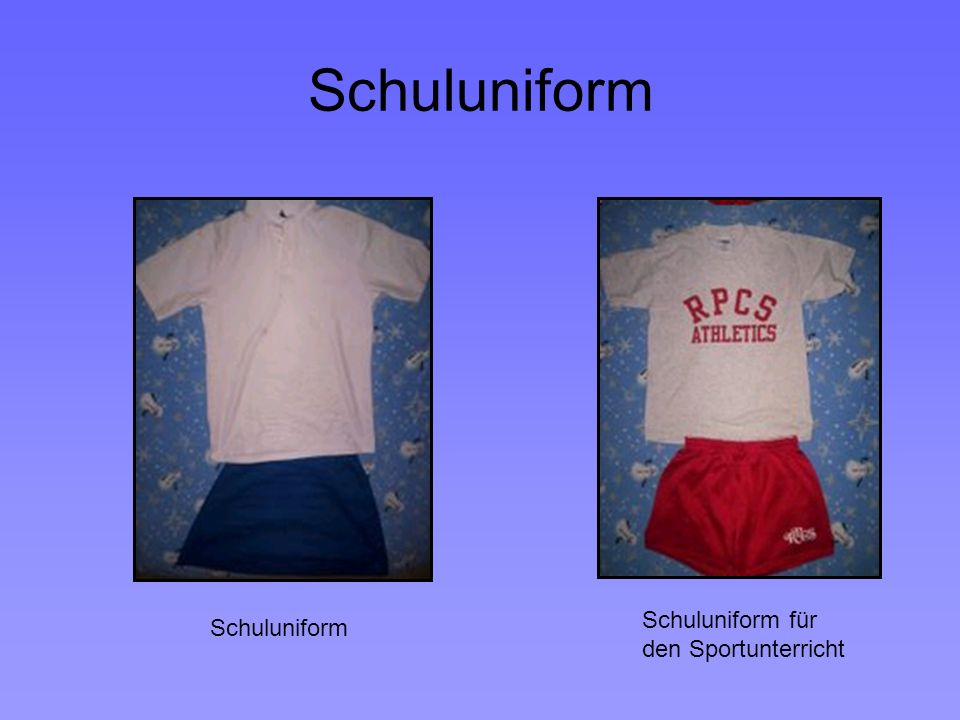 Schuluniform Schuluniform für den Sportunterricht Schuluniform