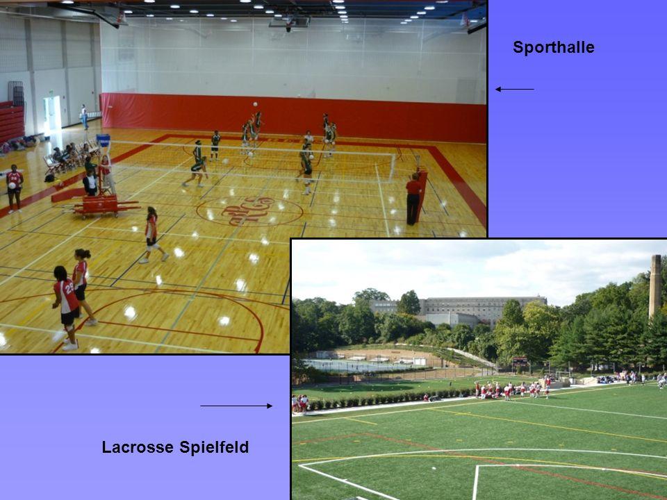 Sporthalle Lacrosse Spielfeld