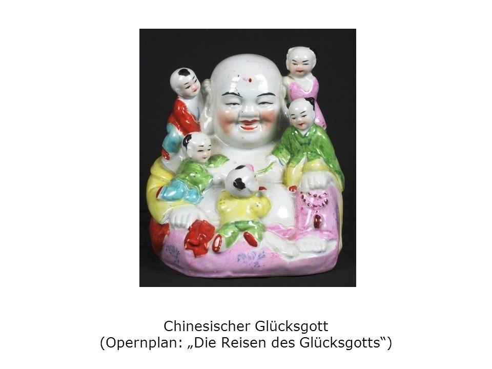 """Chinesischer Glücksgott (Opernplan: """"Die Reisen des Glücksgotts )"""