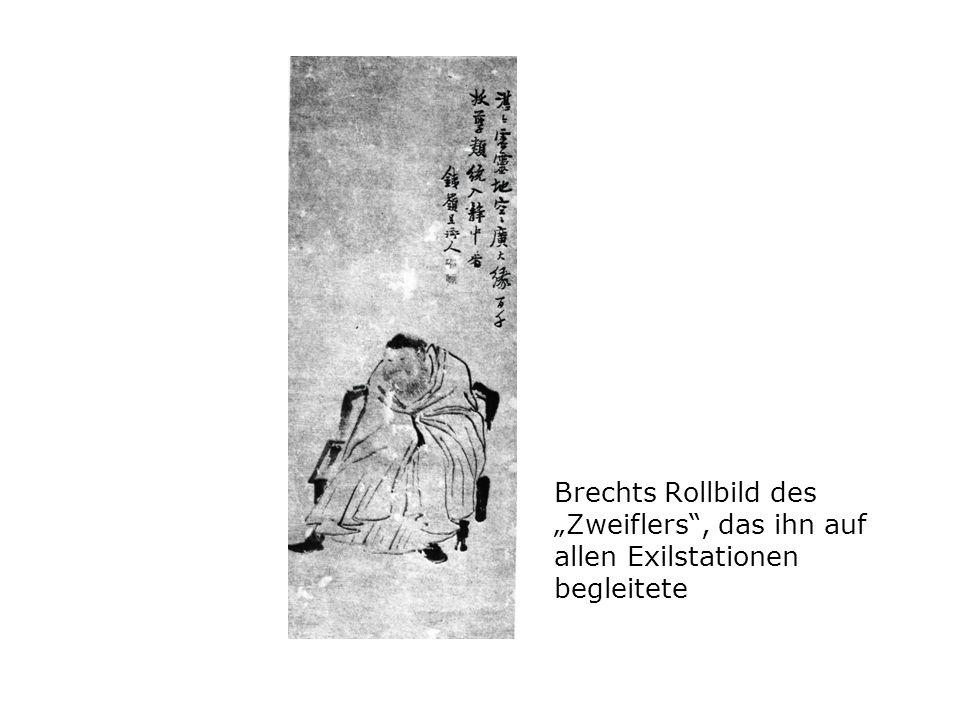 """Brechts Rollbild des """"Zweiflers , das ihn auf allen Exilstationen begleitete"""