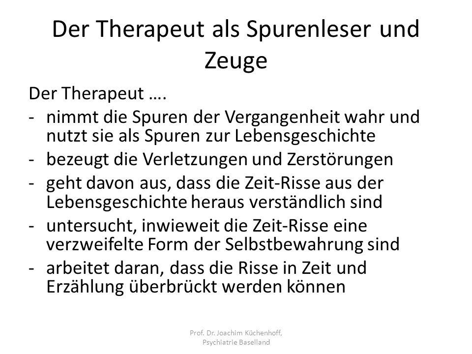 Der Therapeut als Spurenleser und Zeuge