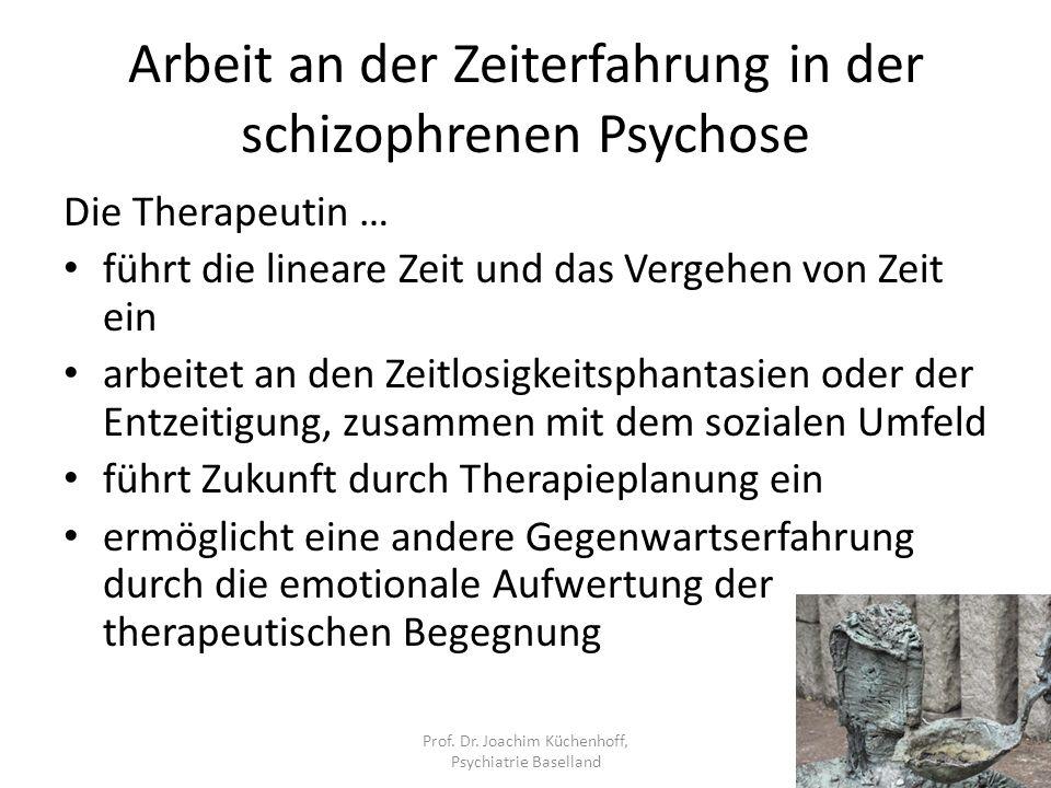 Arbeit an der Zeiterfahrung in der schizophrenen Psychose