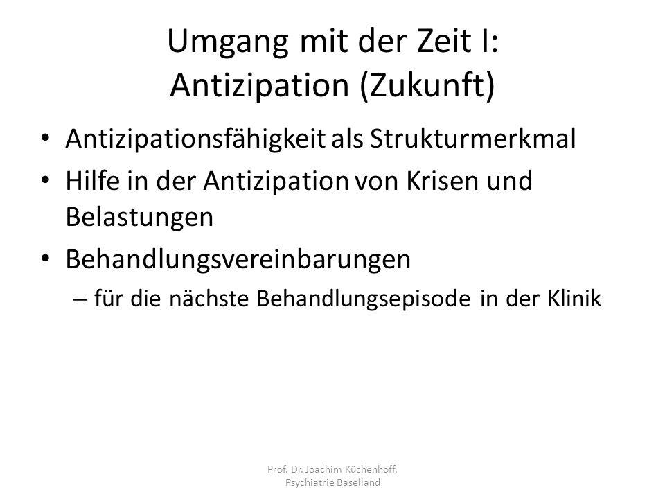 Umgang mit der Zeit I: Antizipation (Zukunft)