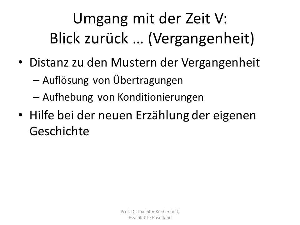 Umgang mit der Zeit V: Blick zurück … (Vergangenheit)