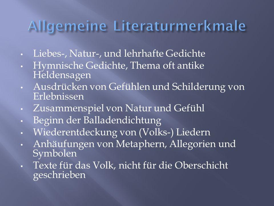 Allgemeine Literaturmerkmale