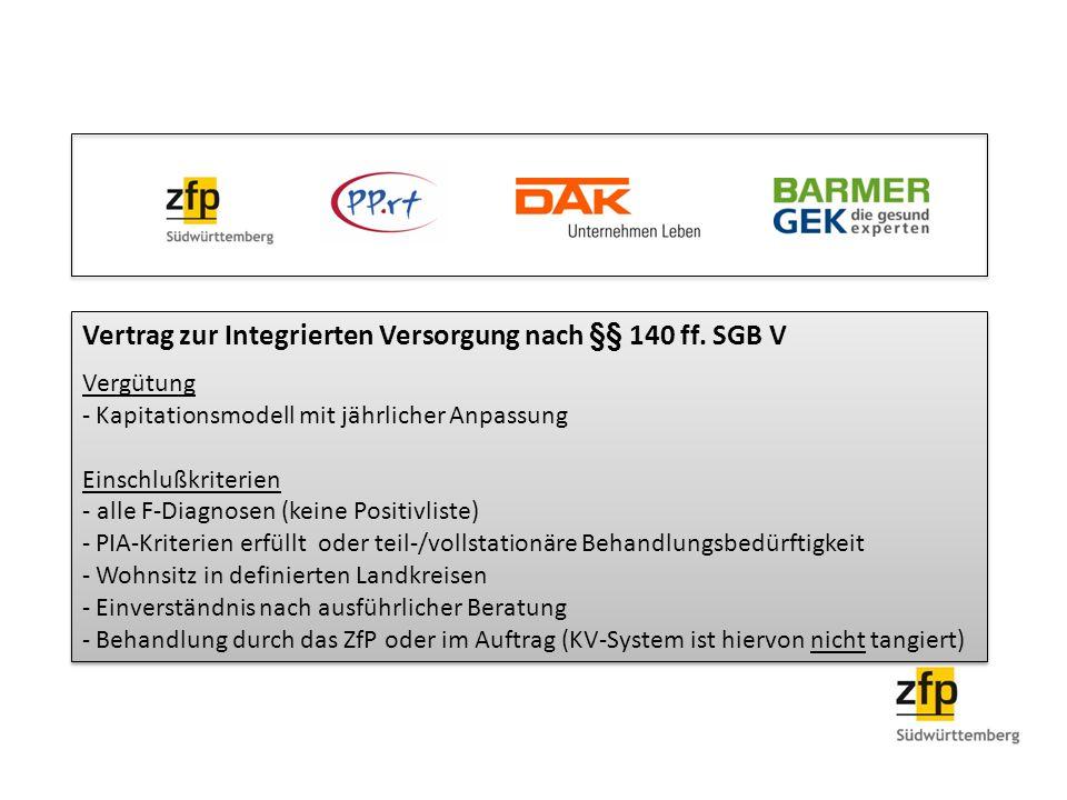 Vertrag zur Integrierten Versorgung nach §§ 140 ff. SGB V