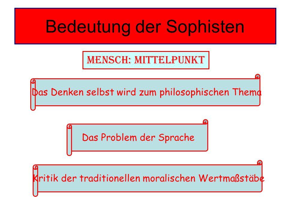 Bedeutung der Sophisten