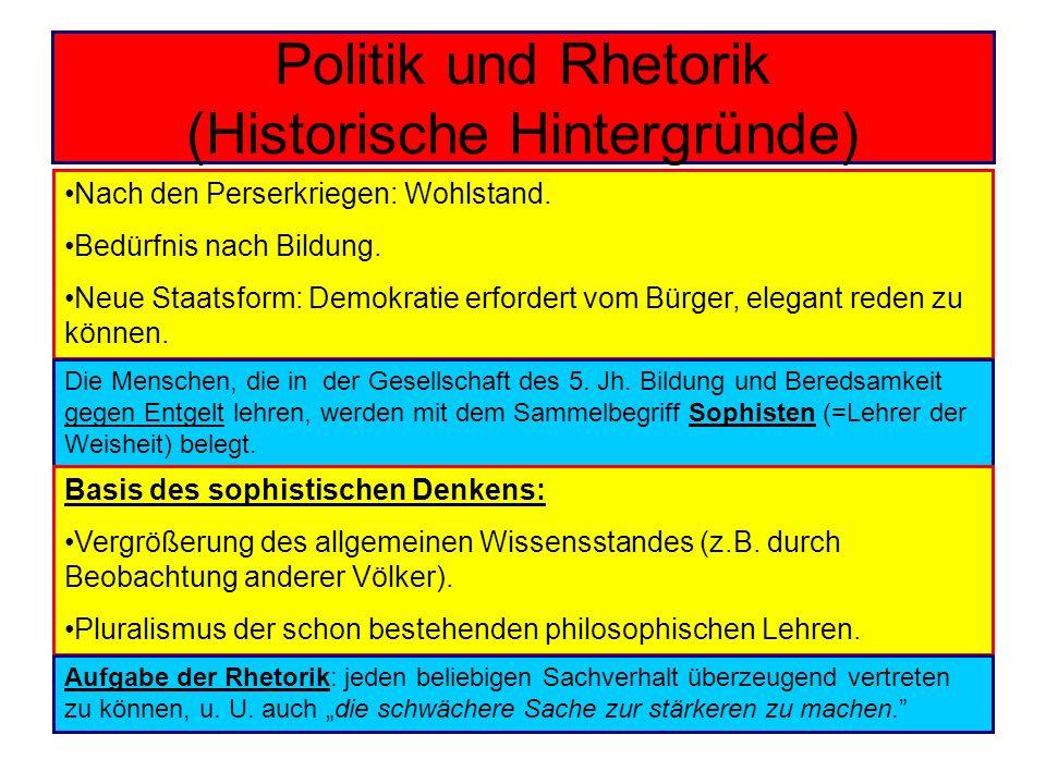 Politik und Rhetorik (Historische Hintergründe)