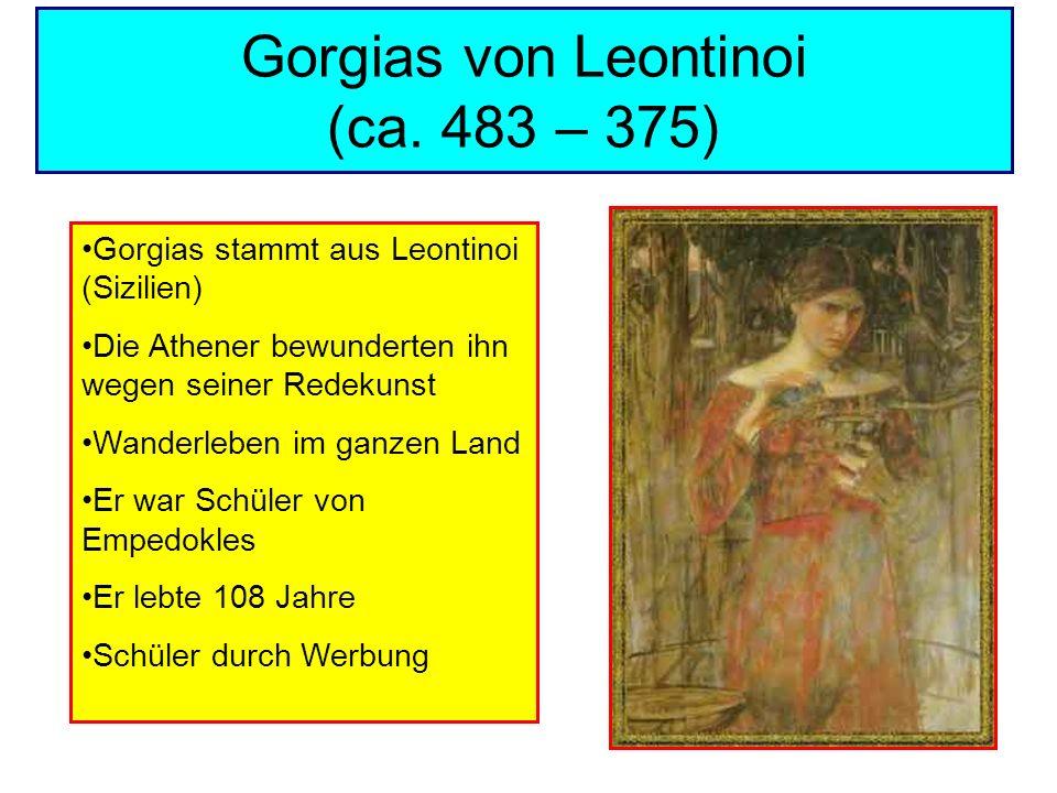 Gorgias von Leontinoi (ca. 483 – 375)