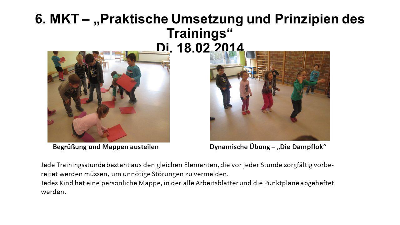 """6. MKT – """"Praktische Umsetzung und Prinzipien des Trainings Di. 18.02.2014"""