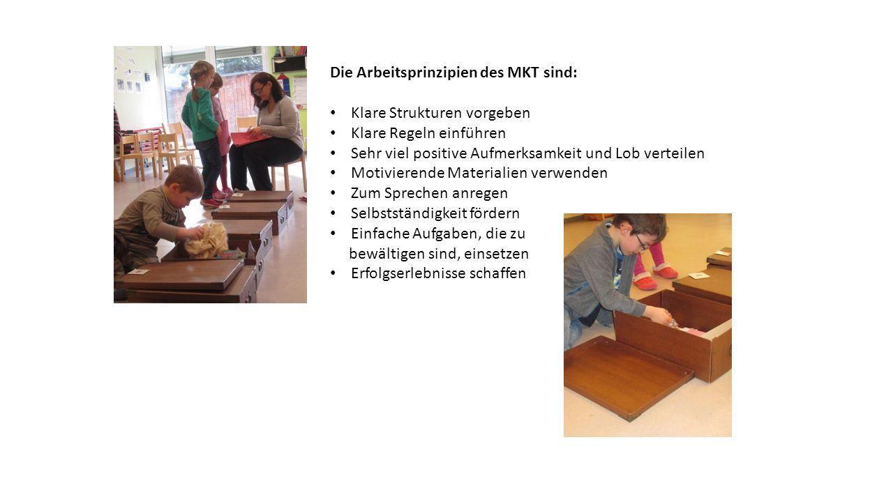 Die Arbeitsprinzipien des MKT sind: