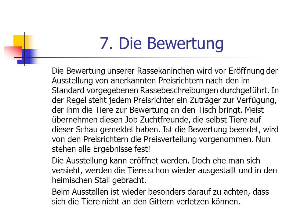 7. Die Bewertung