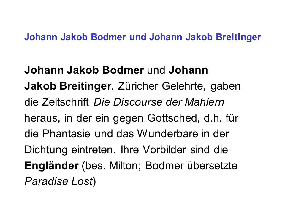 Johann Jakob Bodmer und Johann Jakob Breitinger