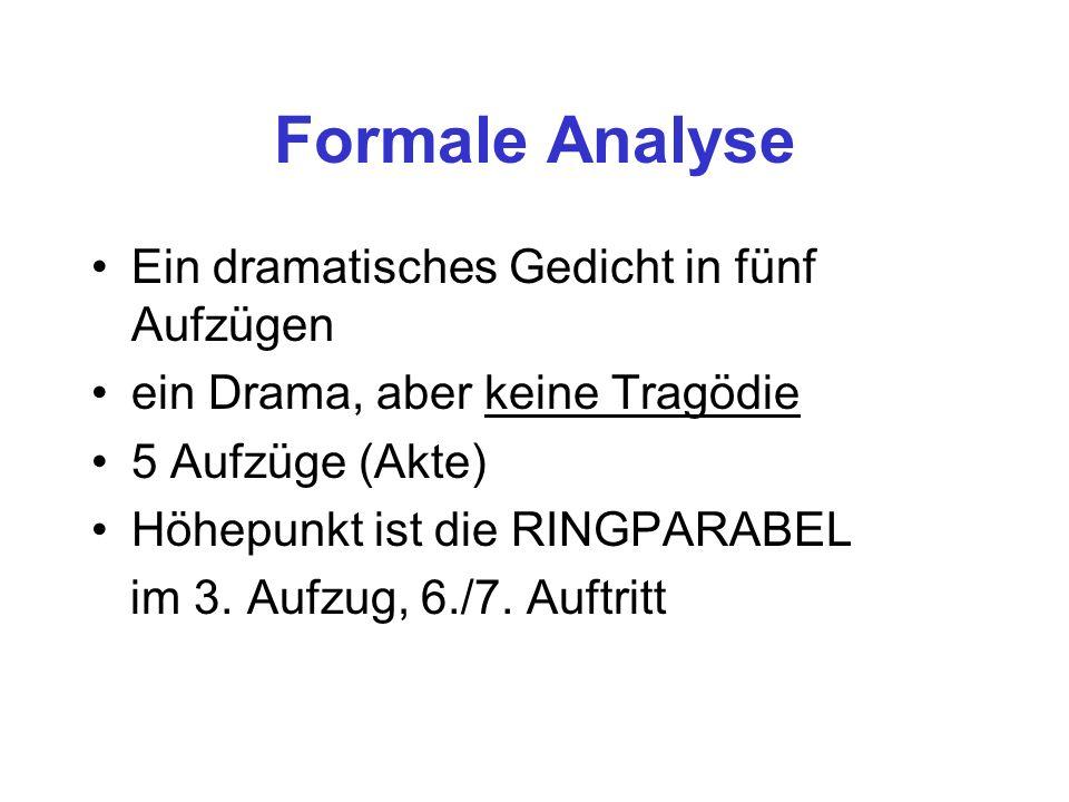 Formale Analyse Ein dramatisches Gedicht in fünf Aufzügen