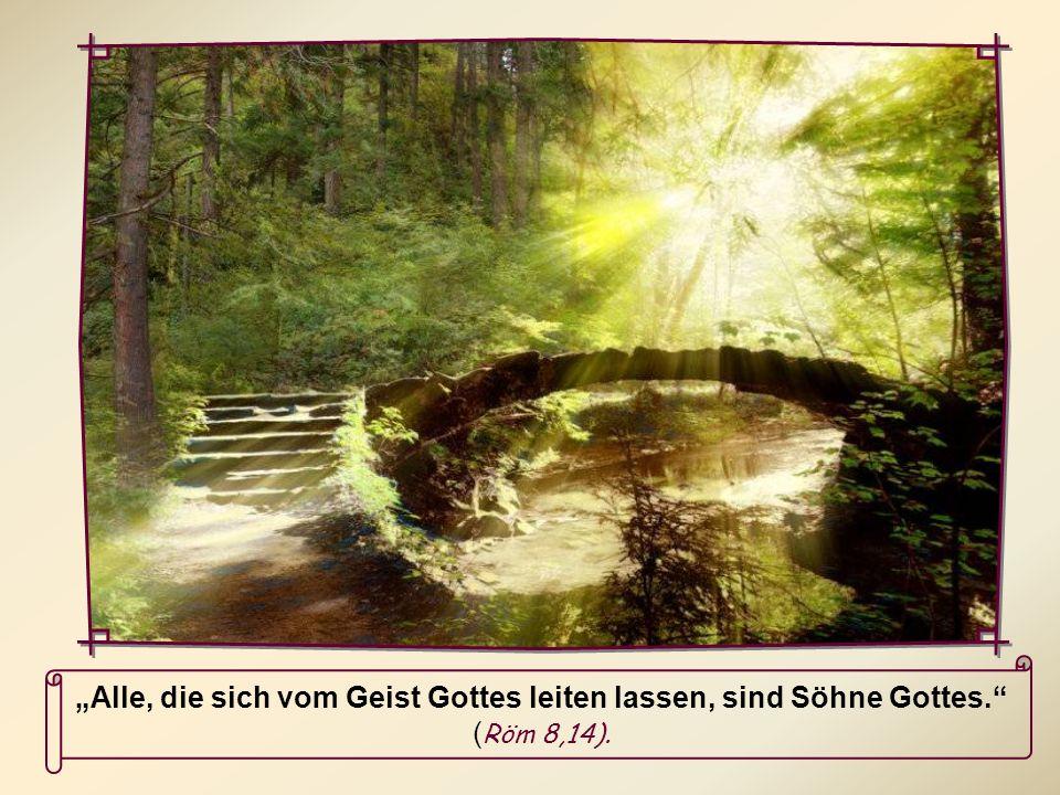 """""""Alle, die sich vom Geist Gottes leiten lassen, sind Söhne Gottes"""