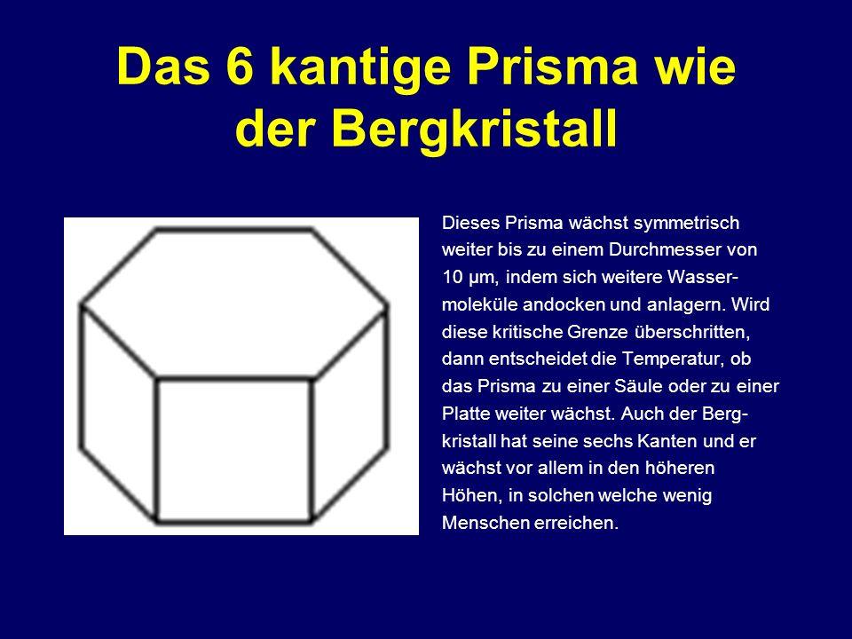 Das 6 kantige Prisma wie der Bergkristall
