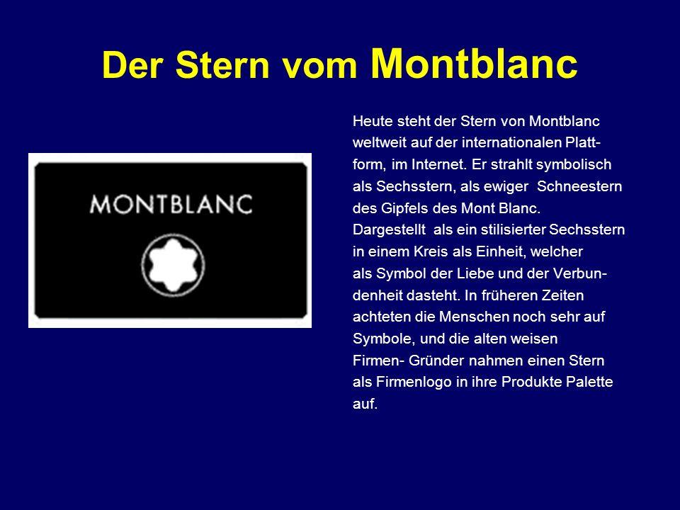 Der Stern vom Montblanc