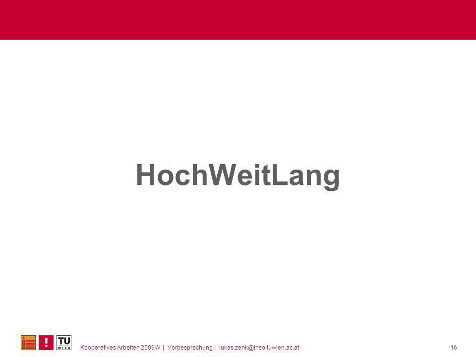 HochWeitLang