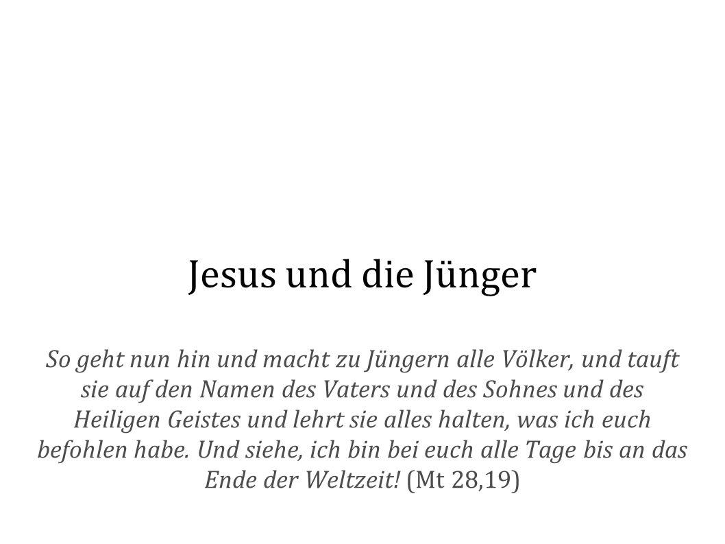 Jesus und die Jünger