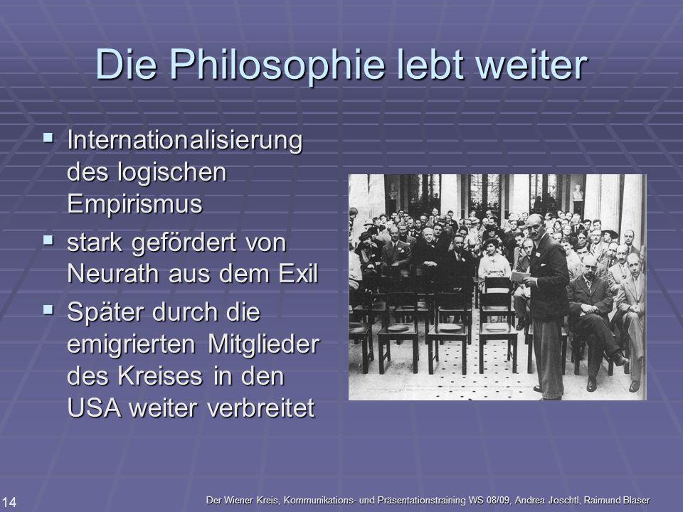 Die Philosophie lebt weiter