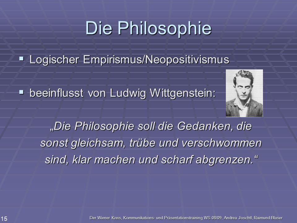 Die Philosophie Logischer Empirismus/Neopositivismus