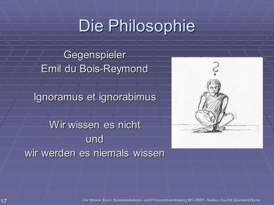 Die Philosophie Gegenspieler Emil du Bois-Reymond